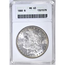 1880 MORGAN DOLLAR, ANACS MS-63