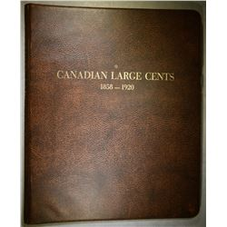 CANADA LARGE CENT SET 1859-1920 IN ALBUM