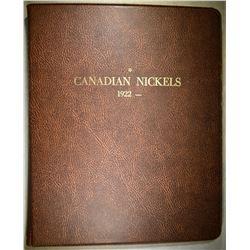 1922-79 CANADA NICKEL SET IN ALBUM