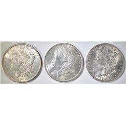 3-CIRC MORGAN DOLLARS