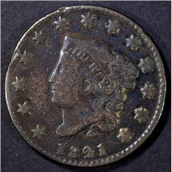 1821 LARGE CENT FINE