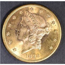 1898-S $20 LIBERTY GOLD GEM BU