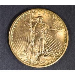 1908 $20 ST GAUDENS GOLD GEM BU