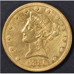 1880 $10 GOLD LIBERTY, AU