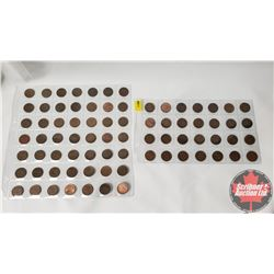 Canada One Cent Collection (77 Coins) : 1930's; 40's; 50's & 60's