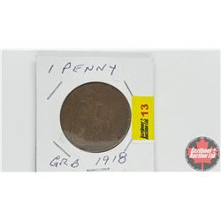 Great Britain One Penny 1918