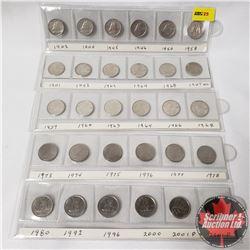 Canada Ten Cent Collection (30): 1942; 1944; 1945; 1946; 1954; 1958; 1941; 1942; 1963; 1964; 1968; 1