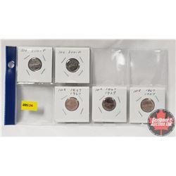 Canada Ten Cent (5): 2001P; 2001P; 1867-1967; 1867-1967; 1867-1967