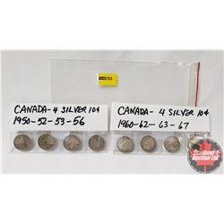 Canada Ten Cent (7): 1950; 1952; 1953; 1956; 1960; 1962; 1963; 1867-1967