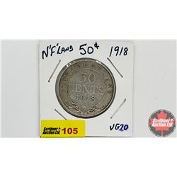 Newfoundland Fifty Cent : 1918