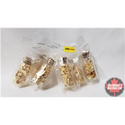 Gold Foil - 6 Cork Top Vials