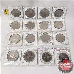 Canada Dollar (16): 1976; 1971; 1972; 1974; 1982; 1867-1982; 1984; 1986; 1974; 1975; 1979; 1984; 197