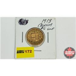 Canada 1913 Gold $5 Coin