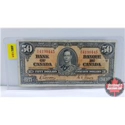 Canada $50 Bill 1937 : Gordon/Towers BH4190445