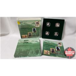 RCM Sterling Silver Fifty Cent Four Coin Set (Canada's Best Friends)