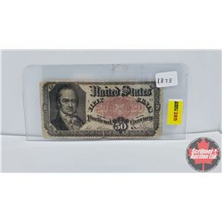 "USA 1875 Fifty Cent ""Fractional Note"""
