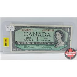 "Canada $1 Bill 1954 Beattie/Rasminsky *BM3556231 ""Replacement """