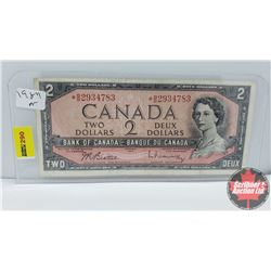 "Canada $2 Bill 1954 Beattie/Rasminsky *BB2934783 ""Replacement """