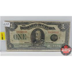 "Dominion of Canada 1923 $1 Bill ""Horse Blanket"""