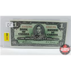 Canada $1 Bill 1937 Gordon/Towers UA1611701