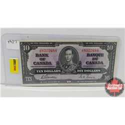 Canada $10 Bill 1937 Gordon/Towers JD8322684