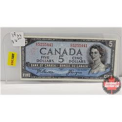 Canada $5 Bill 1954DF Beattie/Coyne EC5255441