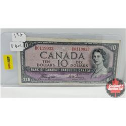 Canada $10 Bill 1954DF Coyne/Towers DD0119033