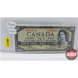 Canada $20 Bill 1954DF Coyne/Towers AE8453614