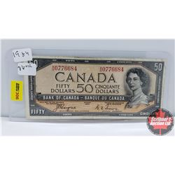 Canada $50 Bill 1954DF Coyne/Towers AH0776684