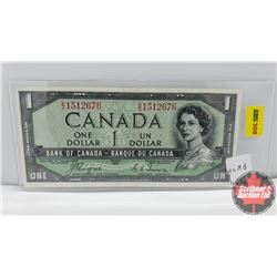 Canada $1 Bill 1954DF Coyne/Towers BA1512676