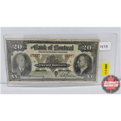 The Bank of Montreal $20 Bill 1938