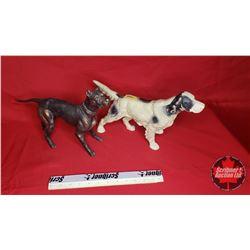 2 Dog Ornaments (1 Copper & 1 Cast)