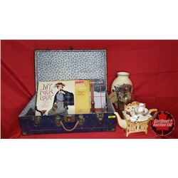 Suitcase of Treasures! My Fair Lady Album, Tea Pot, Letter Spike, Hand Bell, Earrings, Cast Coat Hoo