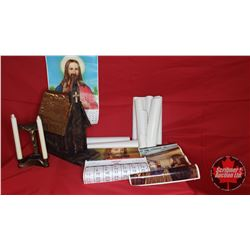 Home Built Church Birdhouse, Religious Candle Holder & Religion Theme Calendars (Variety Years/Image