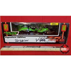 "Diecast Toy : Arctic Cat 2001 ZR 440 Snow-pro Signature Edition ""Kirk Hibbert & Tucker Hibbert"" (1:1"