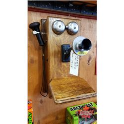 Northern Electric Wooden Wall Mount Box Phone 1915 - Crank & Bells Ring
