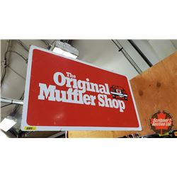 """The Original Muffler Shop Flange Sign - Double Sided Metal (17-1/2"""" H x 30""""W)"""