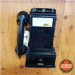 """Wall Mount Pay Phone 1909 """"The Gray Tel Pay Station Co."""" (No Key)"""