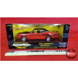 Diecast Toy : American Muscle 1971 Dodge Demon Hobby Edition (1:18 Scale)