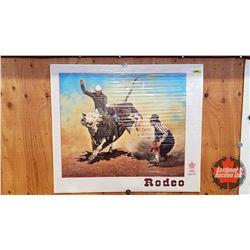 "Calgary Rodeo Print 1988 Olympics (28"" x 24"")"