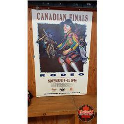 "Hardboard Poster Print : Canadian Finals Rodeo November 9-13, 1994 Edmonton (21"" x 33"")"