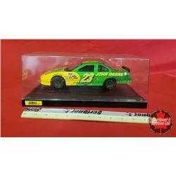 Diecast Toy : John Deere Nascar #23 Pontiac Grand Prix with Display Case  (1:18 Scale) Green & Yello