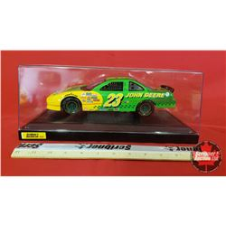 Diecast Toy : John Deere Nascar #23 Pontiac Grand Prix with Display Case (1:18 Scale) Green & Yellow