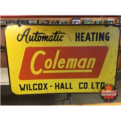 """Coleman Vintage Metal Double Sided Sign 30"""" x 46"""""""
