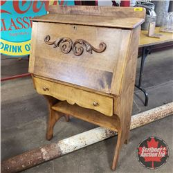 """Drop Front Secretary/Writing Desk with 1 Drawer (43""""H x 28""""W x 13""""D)"""