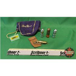 Bullet Lighters (3) & Wilmac Lighter & Crown Royal Sack