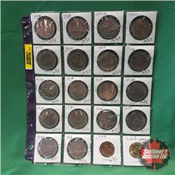 Canada One Dollar - Sheet of 20: 1968 - 1971; 1973-1981; 1982; 1982; 1984; 1985; 1986 & Loonies 1990