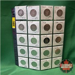 Canada Fifty Cent - Sheet of 20: 1969; 1973; 1974; 1975; 1979; 1980; 1981; 1992; 1994; 1996; 1999; 2