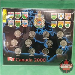 RCM Canada 2000 Quarter Collection in Collector Card