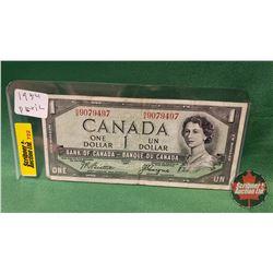 Canada One Dollar Bill 1954DF (Beattie/Coyne)